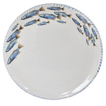 Blue Crab Round Service Tray